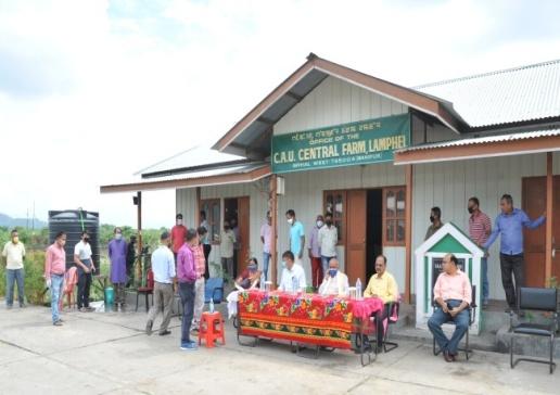 Dr. Anupam Mishra (Hon'ble Vice Chancellor, CAU, Imphal) visiting Central Farm, CAU, Lamphelpat