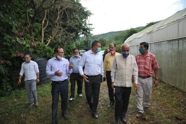Dr. Anupam Mishra (Hon'ble Vice Chancellor) visiting CAU Research Farm, Andro