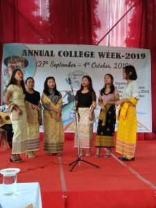 Organised Group song competition during College week celebration