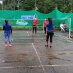 organised Badminton game