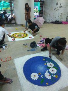 Organised Rangoli competion during College Week celebration